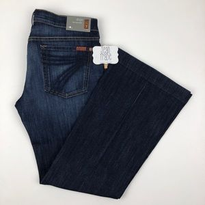 NWT 7 for all mankind dojo flare jeans 32x31